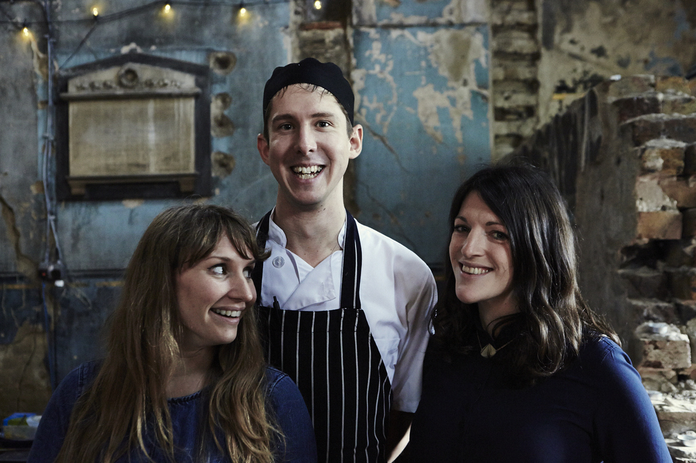 Katie & Juliet with Head chef Paul Darnell