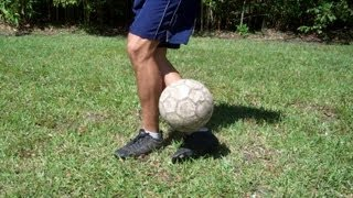 Around Plant Leg Bounce Soccer Trick