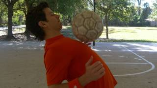 How to Chest Trap to Head the Soccer Ball