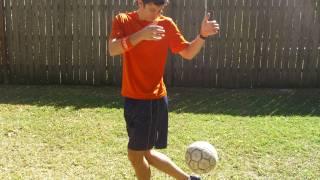 Heel Pop Soccer Trick