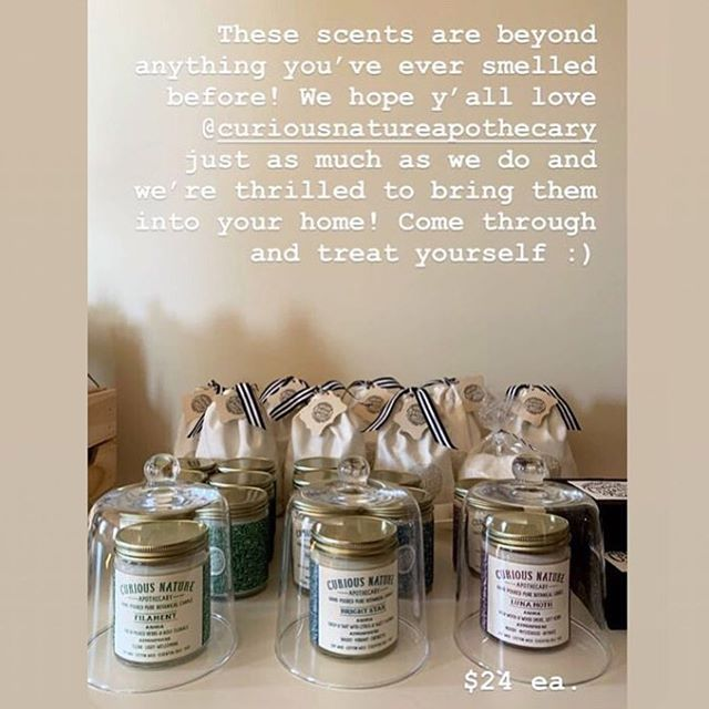 Have you been to @studio_lore yet? We have sooo much love for this woman-owned, gorgeously-curated local shop and we're truly delighted to have some of our goods on their shelves 💛💛💛 { photo by @studio_lore | botanical candles by @curiousnatureapothecary } • • • #shoplocalpvd #botanical #naturalaromatics #madebyhand #tinybatch #soycandles #natureinthehome #shopcrush
