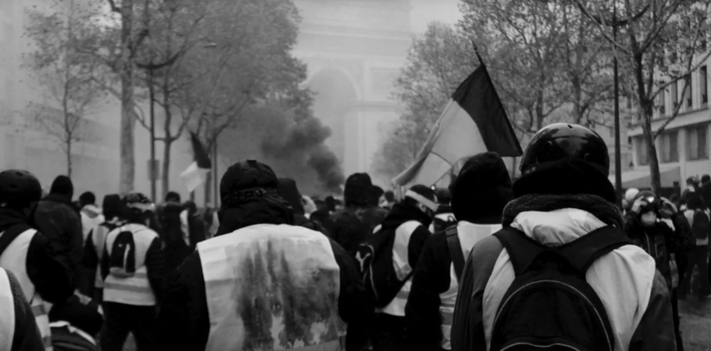 Picture of the Gilets Jaunes Demonstration 01 December 2018 in Paris.