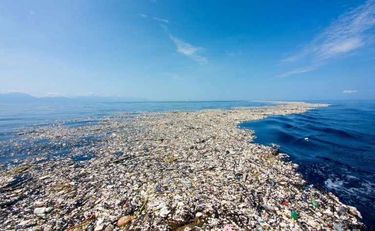 Eight million tonnes of plastics enter the oceans every year, much of which has accumulated in five giant garbage patches around the planet.