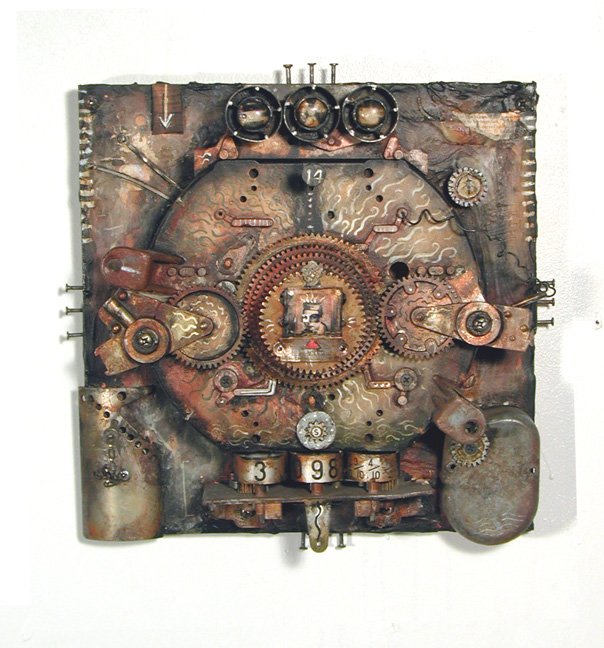Techs Mechs - One of my favourite works with one of my favourite titles.  This was made from parts of an old gas pump.
