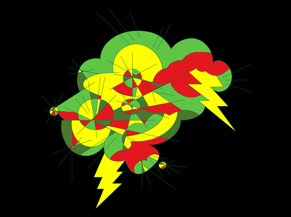 Vibrant Thunder, 2000 computer generated vector art