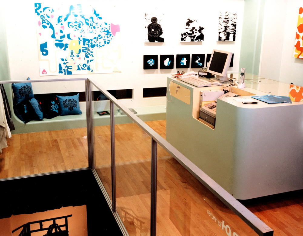 installation view,   Graphysics A.W.T.C.  Houston Gallery Tokyo, Japan, 2002  photo by  Kai Regan