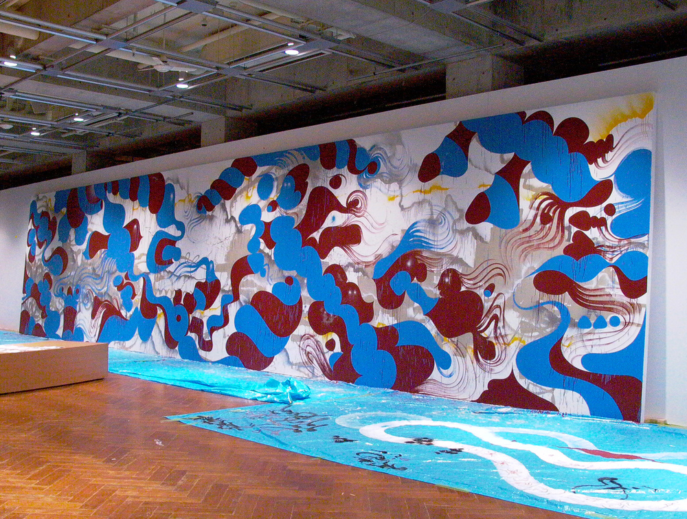 installation view, Butterfly In The Hurricane  commissioned by  World Company  Roppongi, Japan, 2003