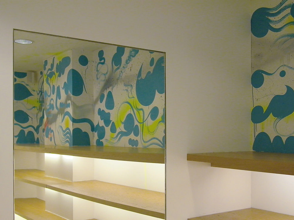 Installation view,  commission for  Agnés b.  Paris, France, 2002