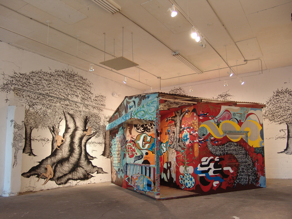 Installation view,   Barnstormers: Casita   Williamsburg, Bklyn, 2005