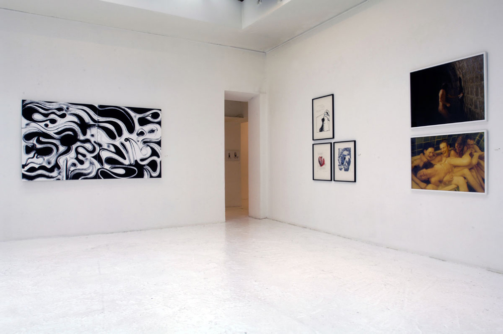 Installation view,   Ugly Winner s  Galerie Du Jour  Paris, France, 2006