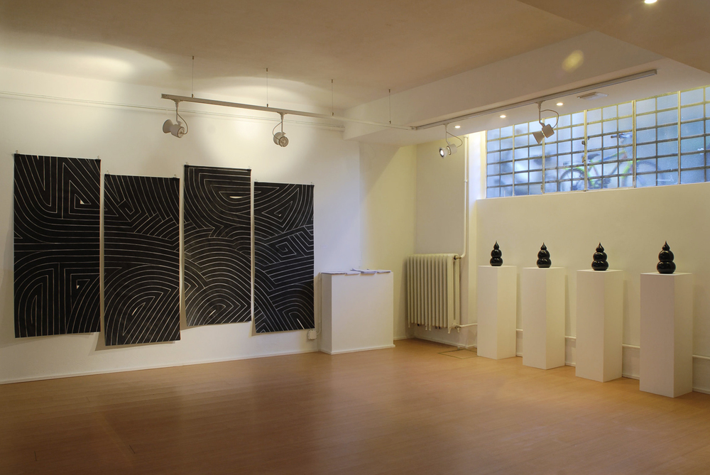 installation view,  Condition Black   Galleria Patricia Armocida  Milan, Italy, 2007