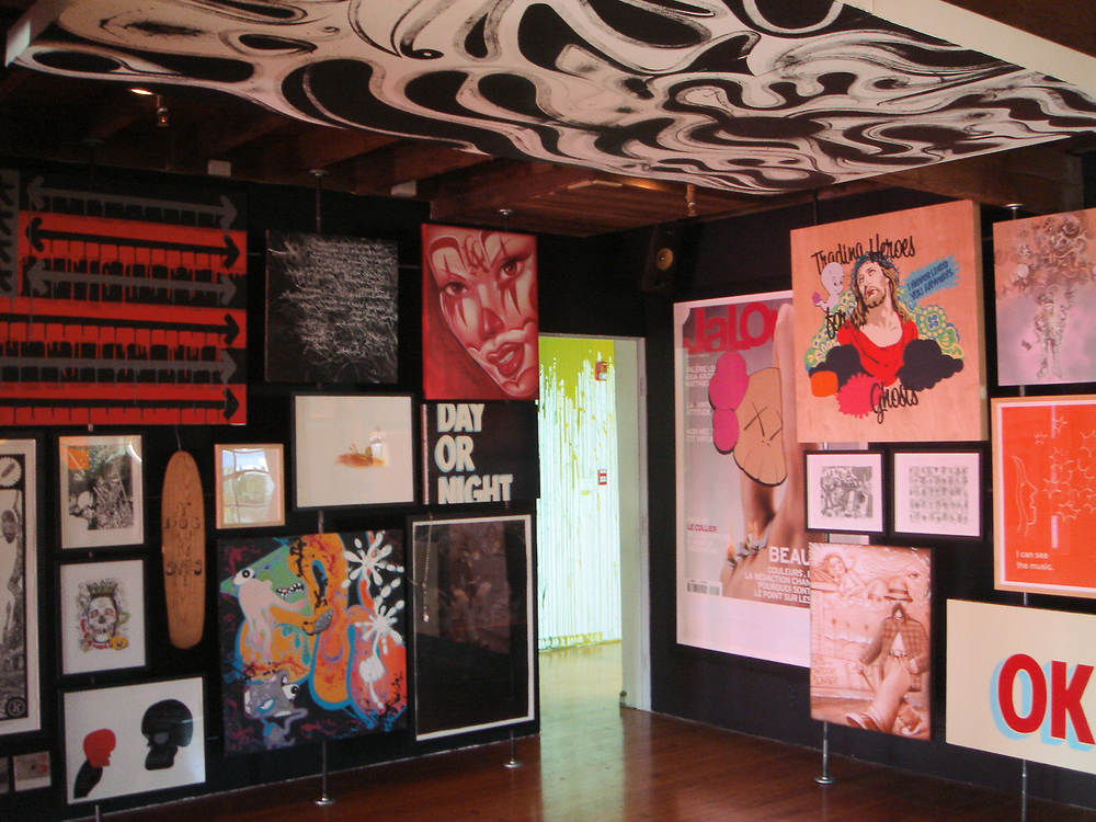 installation view,   Stüssy World Tour   Nike Blue House enice Beach, CA, 2006
