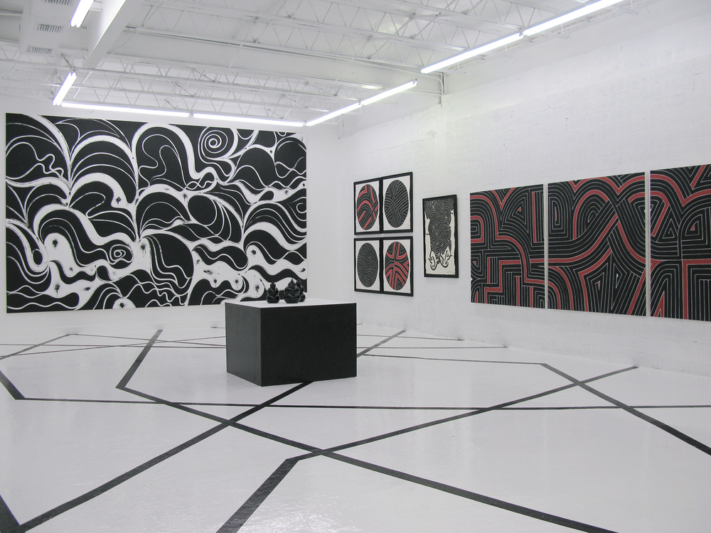 Installation view,  Wreckless Abandon , OHWOW, Miami, 2008