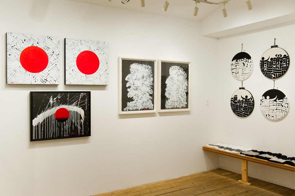 Installation view,  Ikonoclysm ,  Gallery Common , Omotesando, Japan, 2012