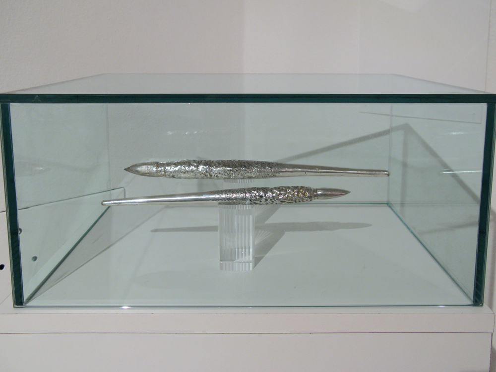 Sword and Dagger, 2009 solid cast silver dimensions vary