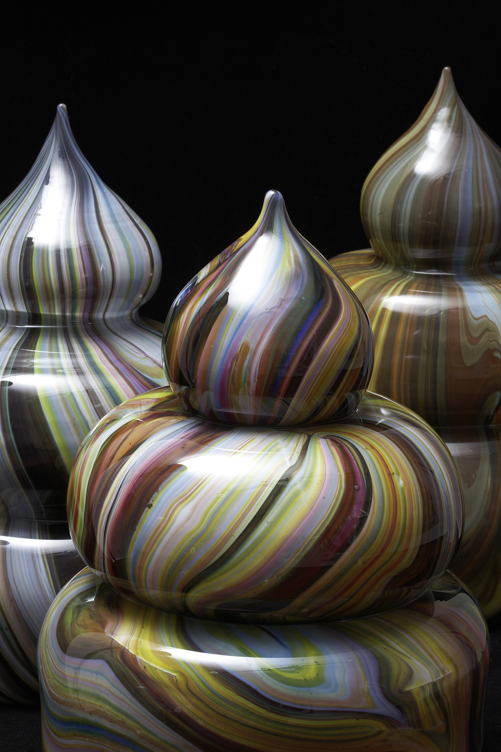 The Seed I-III (Murano Series), 2009 hand blown glass  edition of 5 unique works dimension vary