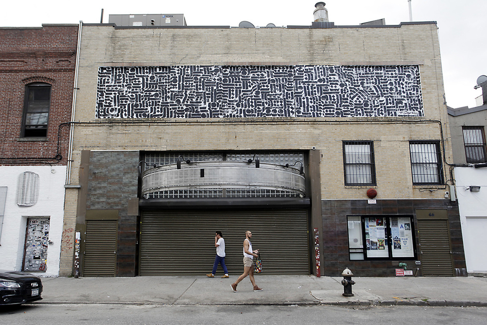 installation view, mural commission for Transform Today Project, Williamsburg, Brooklyn, 2013