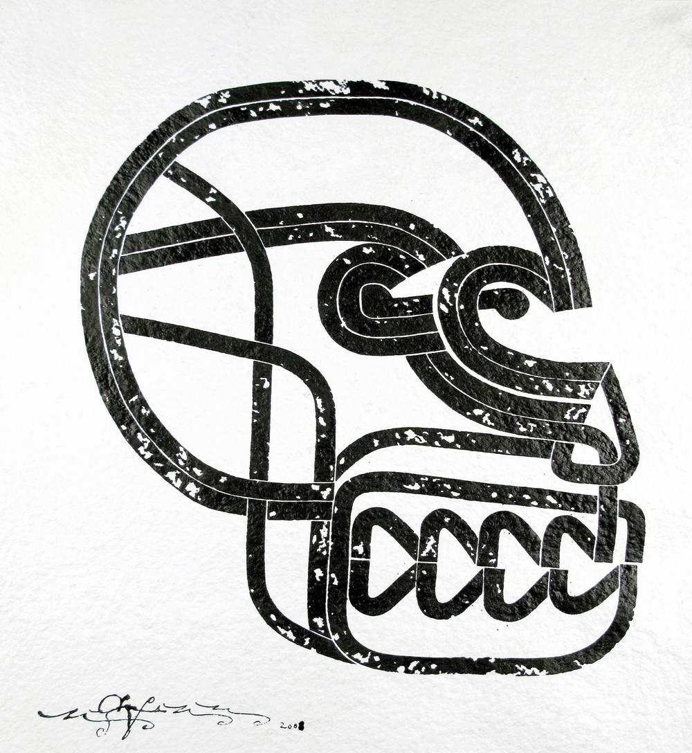 Phrenology I, 2008 sumi ink on handmade paper 22 x 20 inch