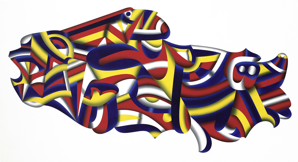 Praefectus T.A.R. (Tibetan Autonomous Region), 2010 acrylic on canvas 33 x 66 inch