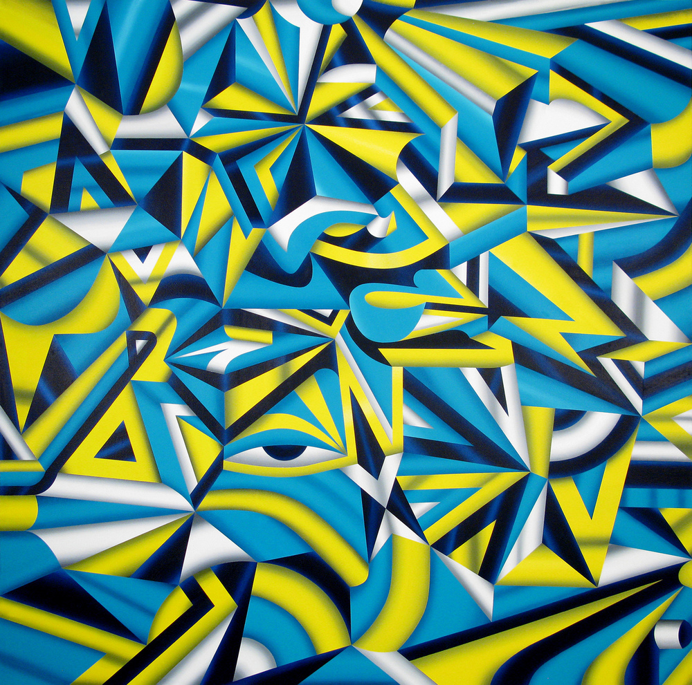 Praefectus Astana (The Dream Team), 2009 acrylic on canvas 72 x 72 inch