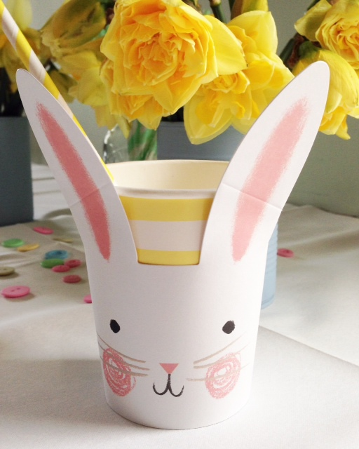 Stripy straws and bunny cups from The Hambledon - easter essentials