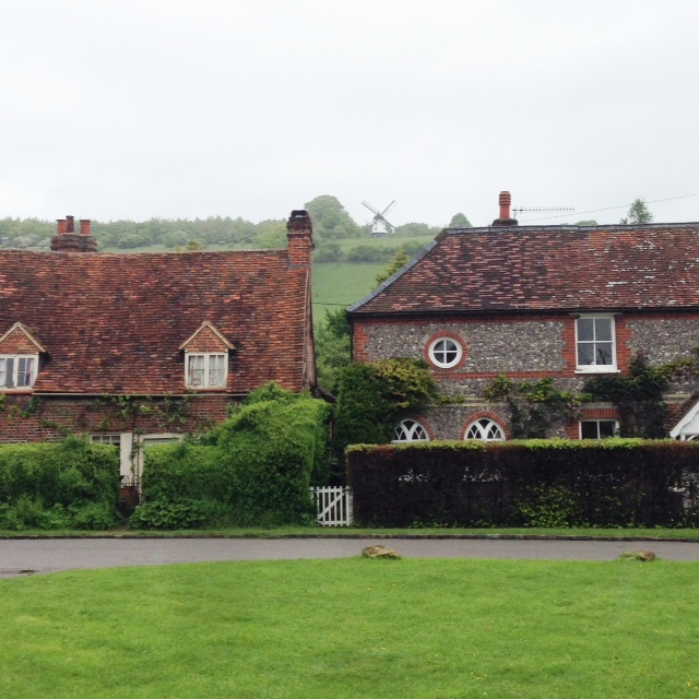 The view from the village green in Turville to Cobstone Mill. Or the bit just outside the vicar's house in Dibley up to the inventor's house from Chitty Chitty Bang Bang.
