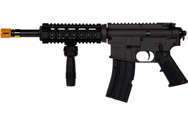 irM4 CQB Ideal for close quarters combat and quick aiming. The CQB is lightweight with afront grip, and no stock.