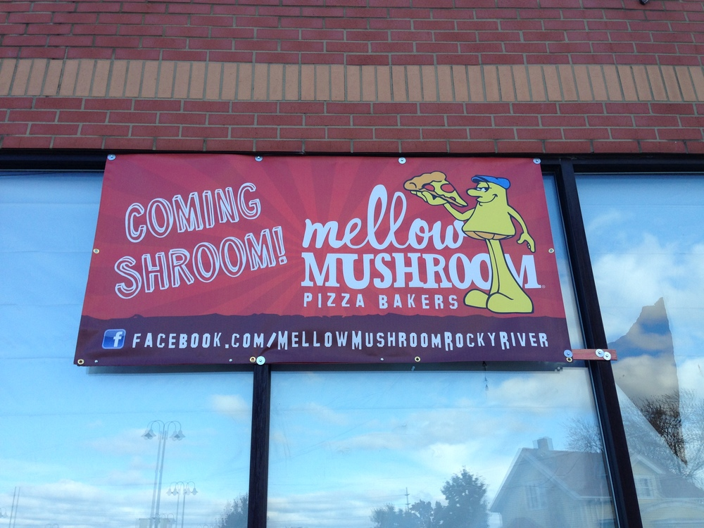 Mellow Mushroom will open in 2015.