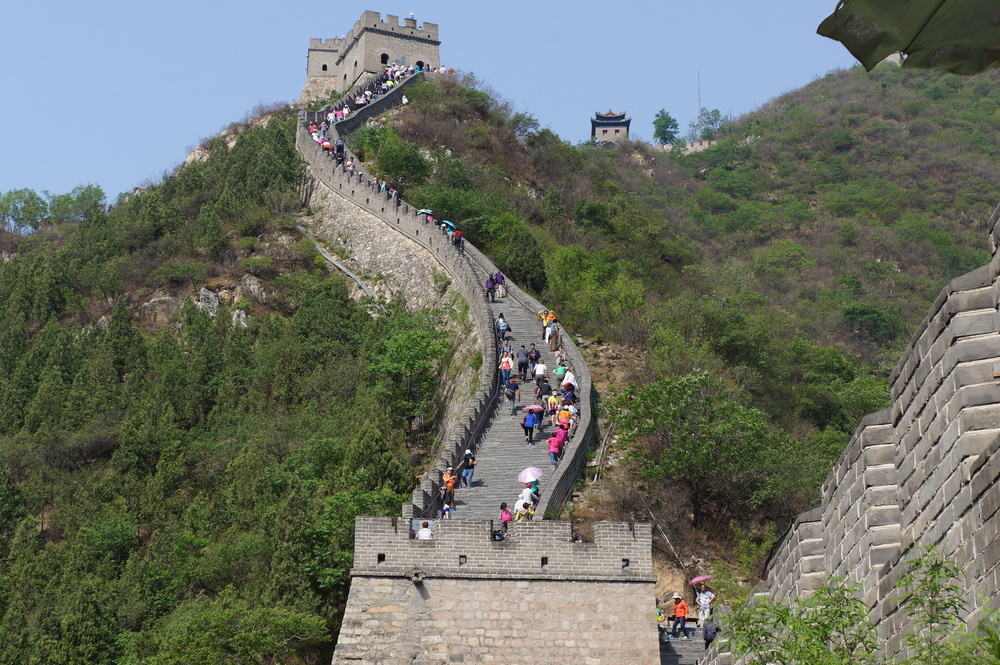 A segment of the Great Wall of China just outside Beijing.