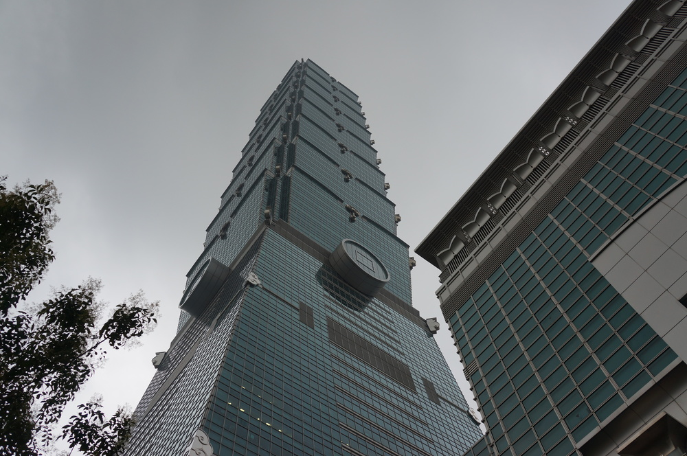 Taipei 101, formerly the tallest and now the second tallest building on Earth.  It still boasts the world's fastest elevator.
