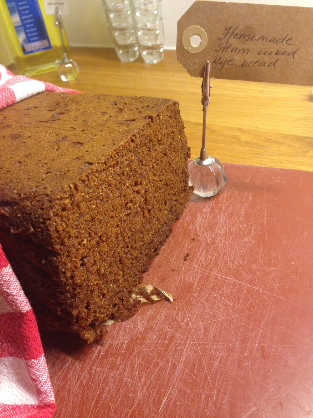 Traditional home made hot spring rye bread - the bread is cooked right in the hot spring!