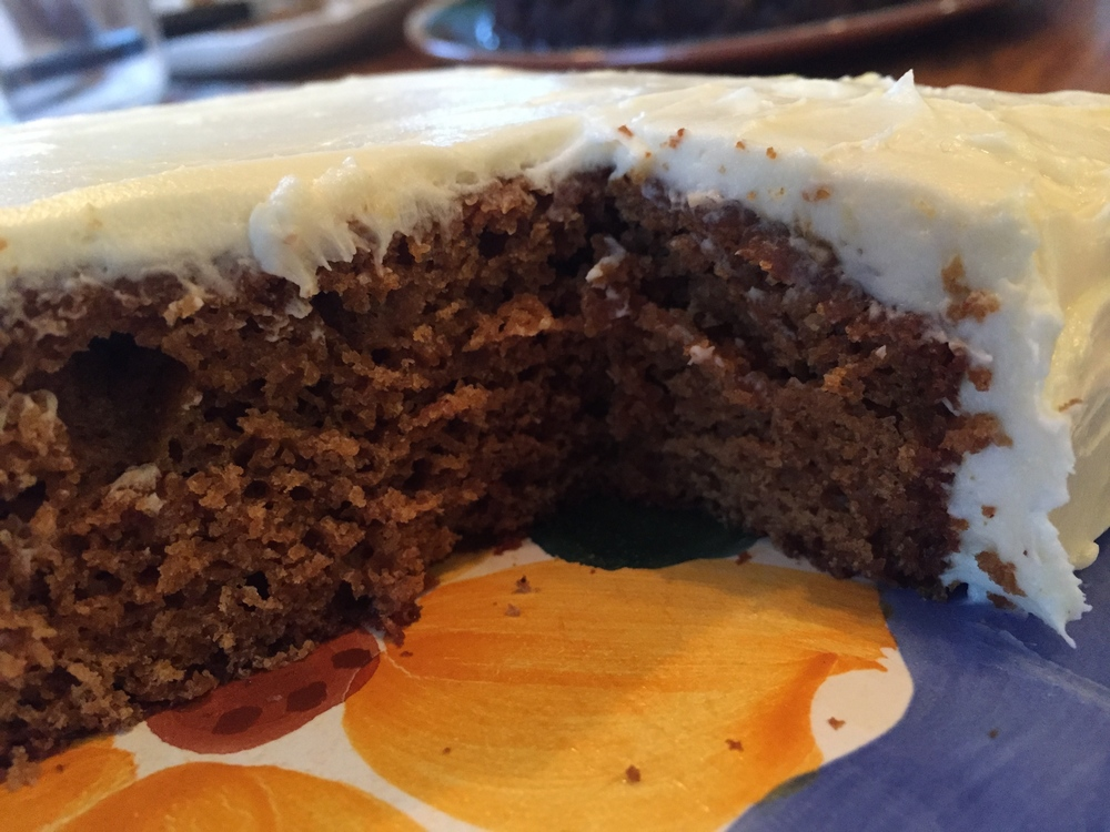Gingerbread Cake with Lemon Frosting