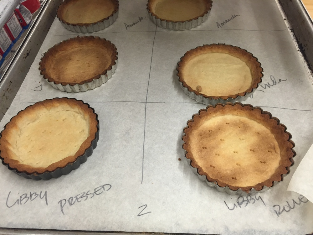 Baked tartlet shells - ready for filling!