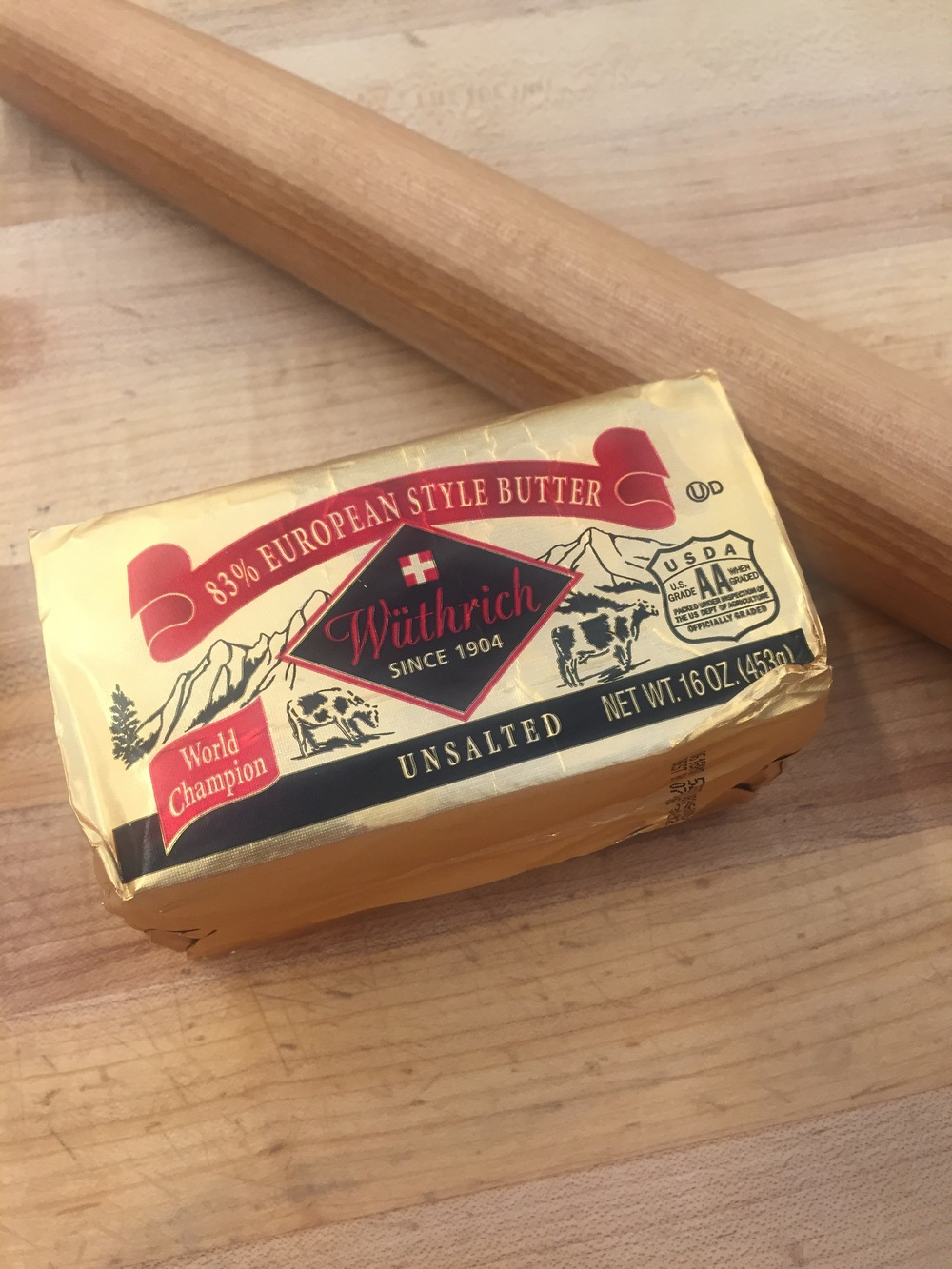 European butter - has a higher fat content and is optimal for puff pastry