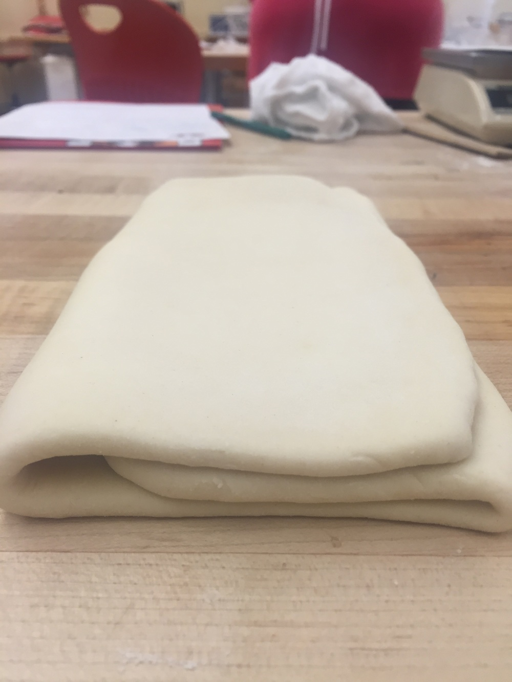 After the second fold - 19 layers of doughy, buttery goodness!