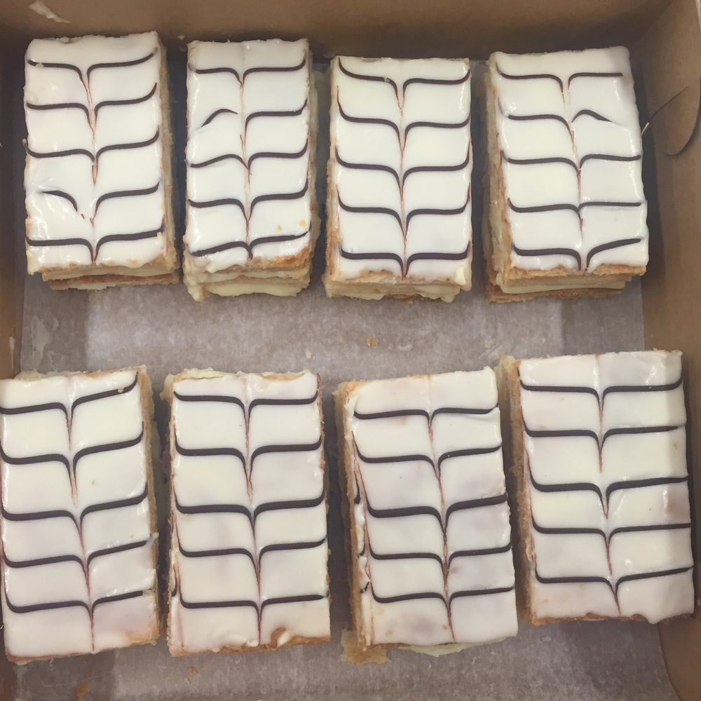 Our sliced Napoleons