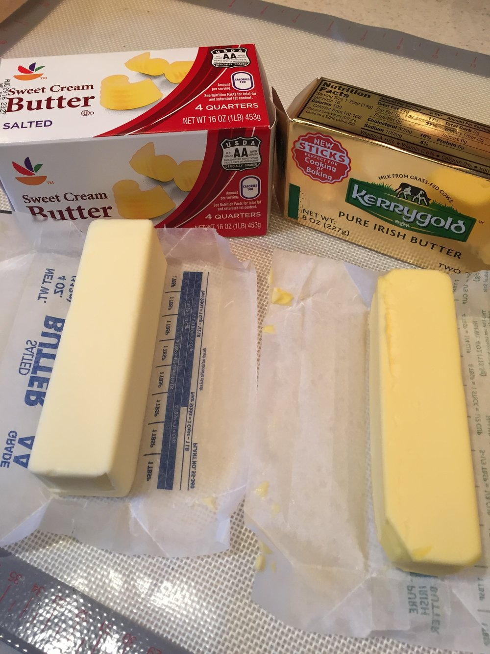 Difference between European and standard butter