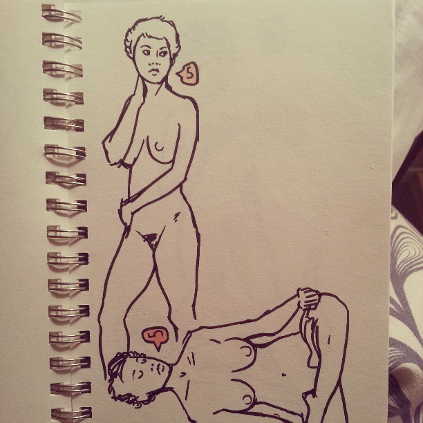 Some of this week's life drawing. #sketch #nude #girl