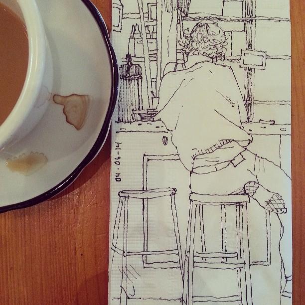 Breakfast napkin doodle!