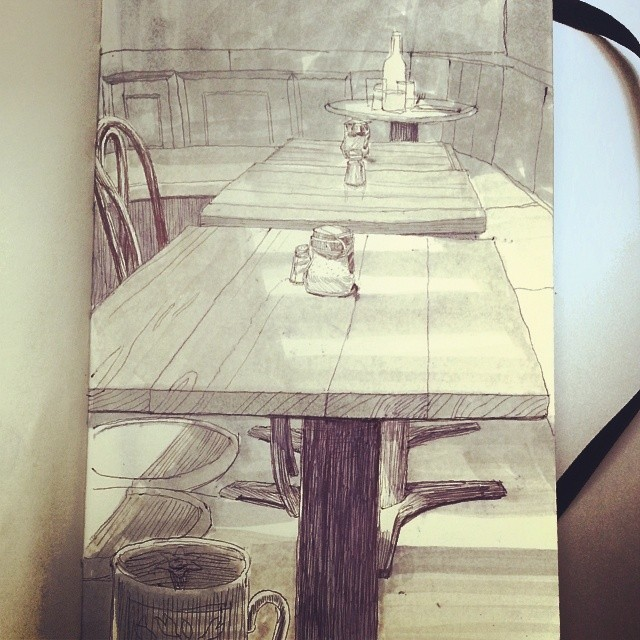 Breakfast still life practice!