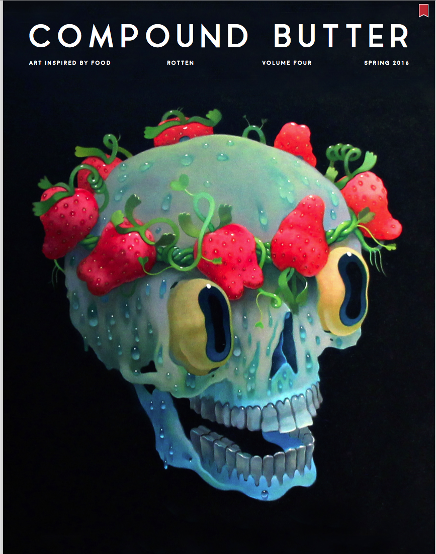 Compound Butter magazine features Jenna Gang's rotten food still life.