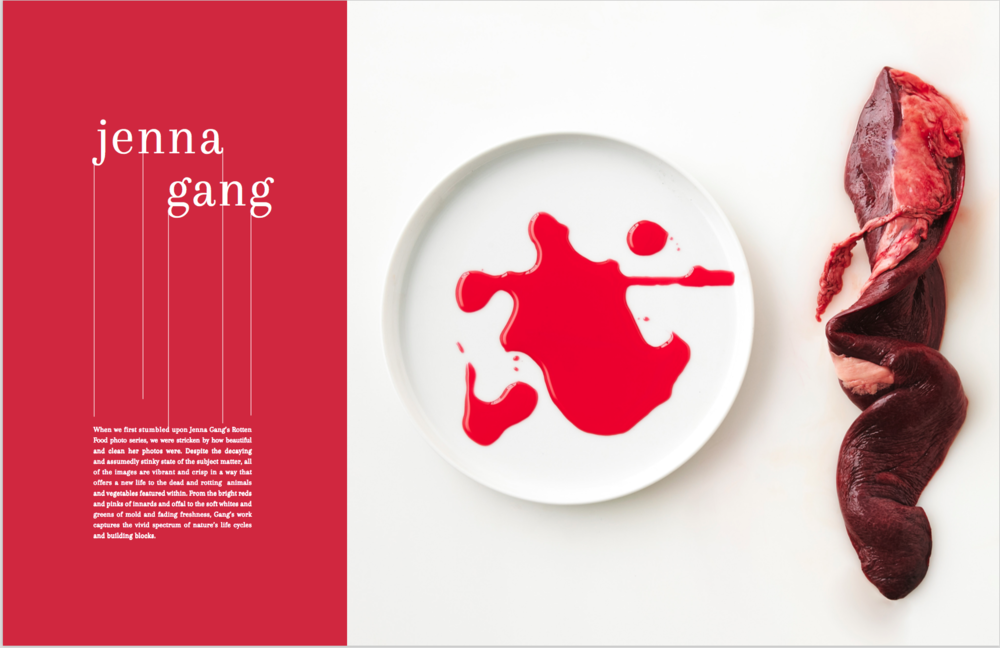 Compound Butter Magazine features Jenna Gang's rotten food still life series.