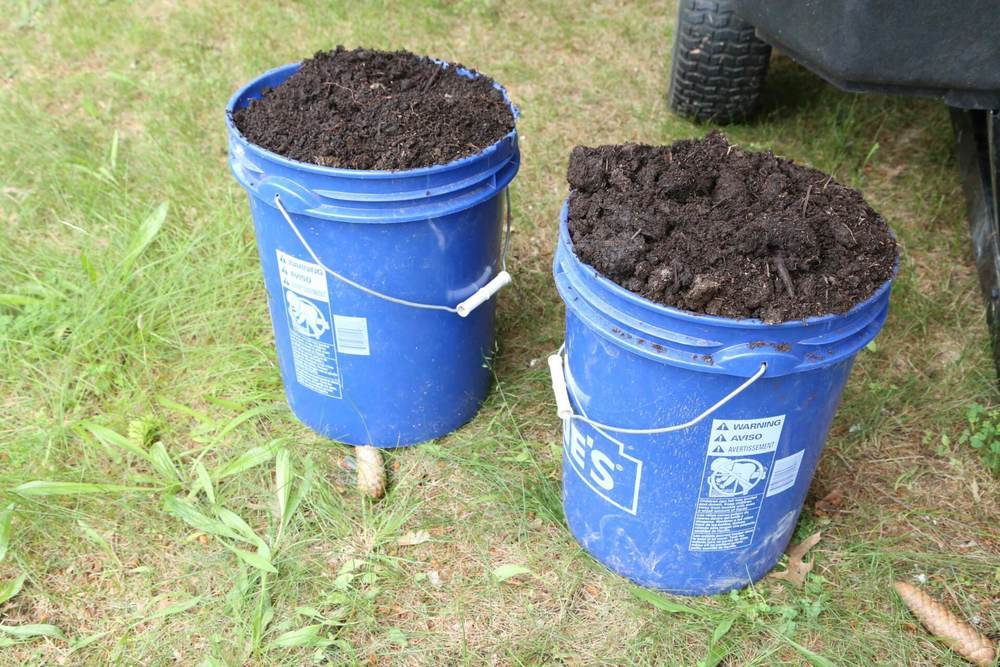 Generous amounts of leaf mold compost and mushroom soil. Lots of nutrients for the soil.