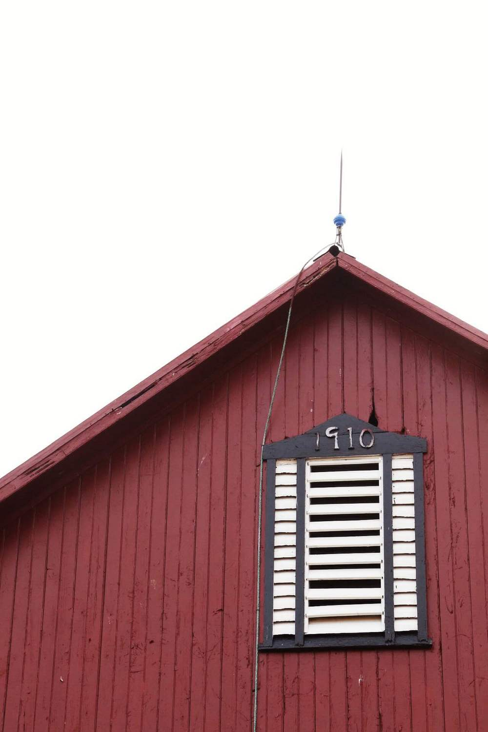 The big red barn. Timber frame barn built in 1910.