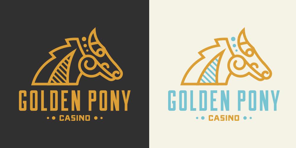 Golden Pony• Logo design for Golden Pony Casino.