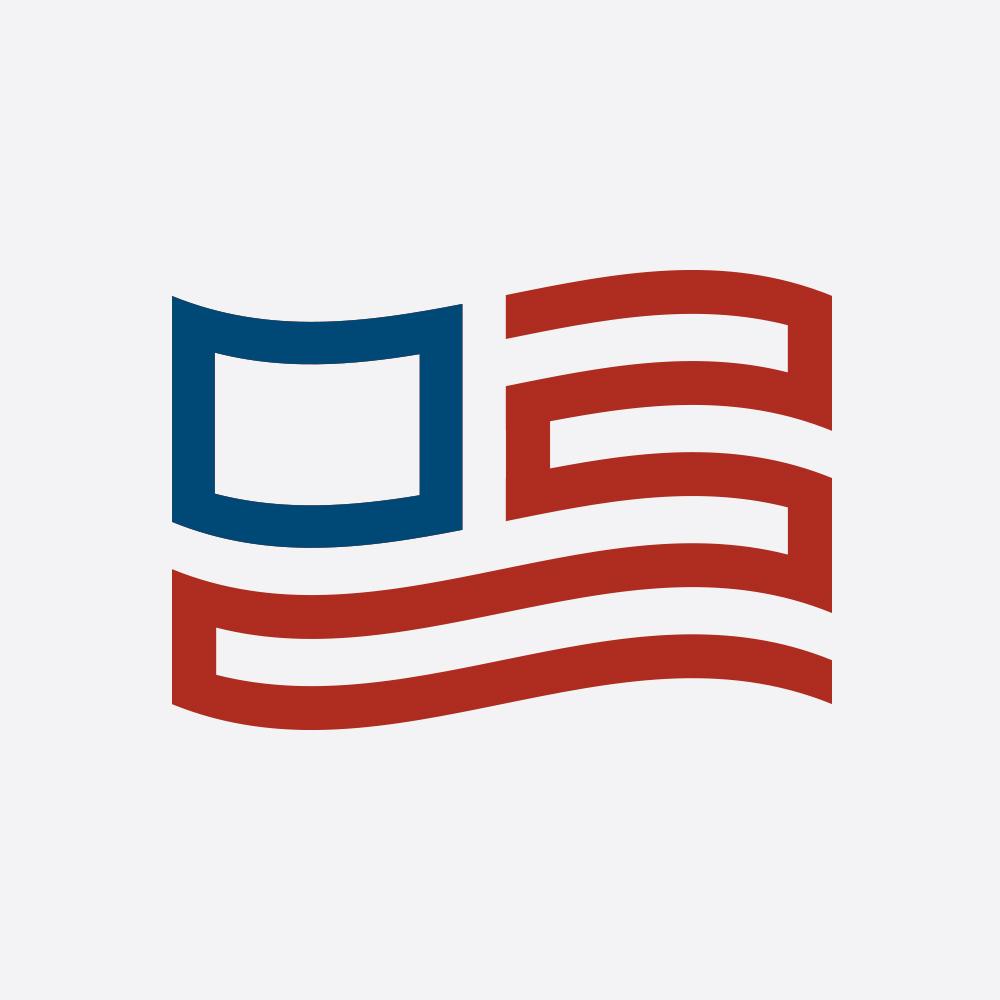 Made In Modern America• Modern Flag icon design.