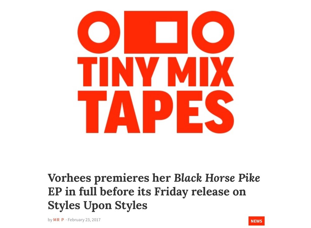 Tiny Mix Tapes premieres BLACK HORSE PIKE February 2017 :: link  HERE
