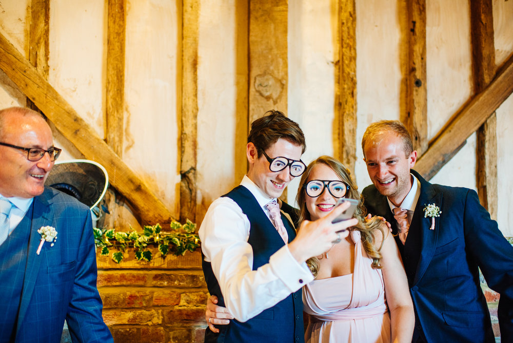 27 Lillibrooke Manor Berkshire Funny Glases Wedding Photography.jpg