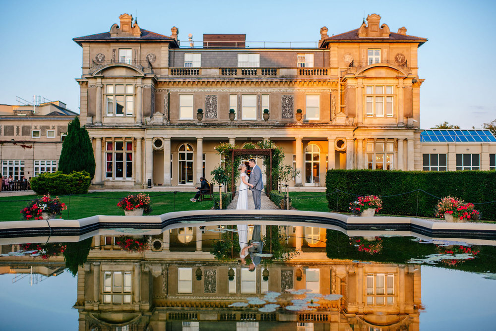 17 Down Hall Country House Hotel Bride Groom Portraits Reflection Wedding Photography.jpg