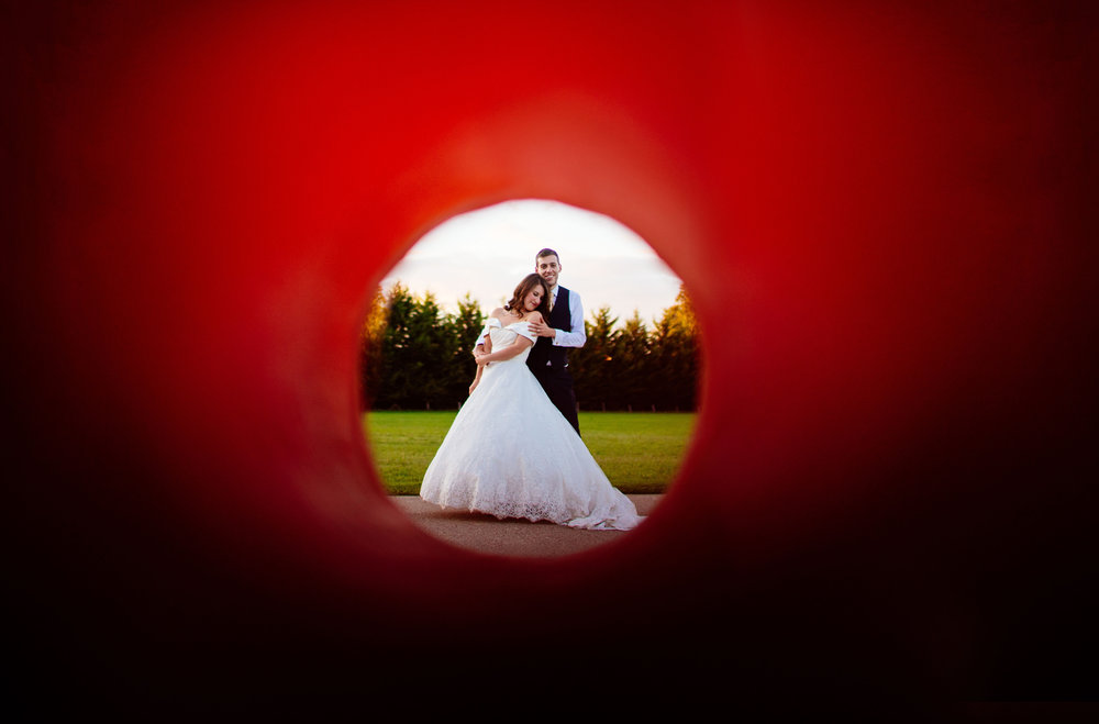 28 Lillibrooke Manor Berkshire Wedding Photography Bride Groom Portraits Happy.jpg